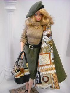 Barbie Silkstone Clothes   Winter Mink* Vintage Barbie Silkstone Fashion Royalty Poppy Parker OO ...