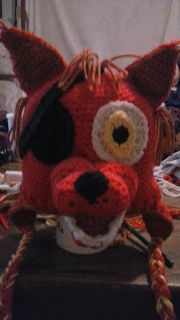 Crochet Animal Hats: Check out Foxy and Chicka from five nights at fred...