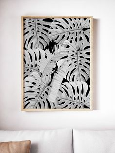 This high-quality MONSTERA modern boho printable wall art is available to download immediately upon purchase by Little Gold Pixel White Wall Decor, Home Decor Wall Art, Room Decor Bedroom, Living Room Decor, Modern Boho, Modern Coastal, Modern Prints, Art Prints, Botanical Prints