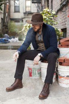 "I Love his look, Kinda ""Next of Kin""...just wish he wasn't sitting on a pickle barrel full of bricks"
