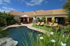 VillaChad in Kleinmond, Cape Town, South Africa. Gazebo, Pergola, Sandy Beaches, Hotel Reviews, Santa Fe, This Is Us, Outdoor Structures, Mansions, Luxury