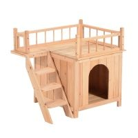 PawHut Elevated Waterproof Outdoor Wooden Treehouse Cat Shelter with Balcoy Pawhut Indoor/Outdoor Wood Cat House Shelter Outdoor Cat Tree, Indoor Outdoor, Cat House Outdoor, Outside Cat House, Outdoor Cat Shelter, Outdoor Shelters, House Inside, Outdoor Dog, Wooden Cat House