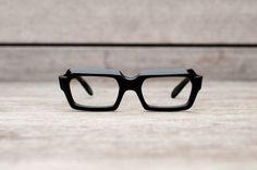 thick black eyeglasses // stenzel frame italy by klinker on Etsy