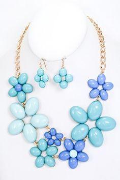 Blue Flower Necklace