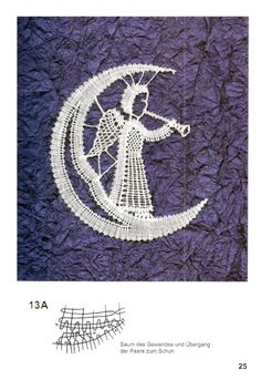 Gallery.ru / Фото #20 - Мелкие изделия - Polly-Polly Christmas Themes, Christmas Decorations, Bobbin Lace Patterns, Paper Embroidery, Lace Making, Lace Design, Diy And Crafts, Xmas, Tapestry