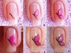 mariposas en uñas pinterest - Buscar con Google
