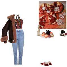 A fashion look from November 2016 featuring Romeo Gigli tops, Topshop jeans and Rockins scarves. Browse and shop related looks.