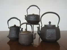 antique iron teapots inspiration. Talk about funky ass tea pots yet beautiful and rustic