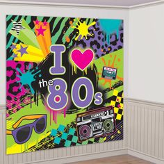 Take your party room back in time to the with our Totally wall decorating kit! Buy Retro party supplies now at Discount Party Supplies. Glow Party, Disco Party, Party Party, Party Ideas, Party Games, Sofia Party, 80s Birthday Parties, Birthday Party Themes, 30th Birthday