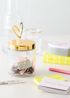 We can all benefit from embracing more joy. Use our new A Year of Joy Jar to write down a joyful moment each day. Then love looking back over 365 wonderful experiences.
