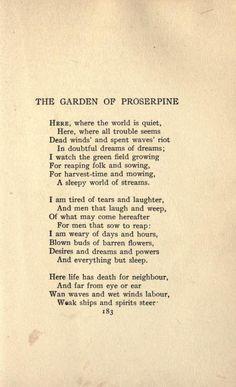 the garden of proserpine