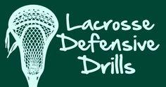 Lacrosse Defensive Drills!  http://www.toplacrossedrills.com/lacrosse-defensive-drills/  #lacrosse #defense #drills