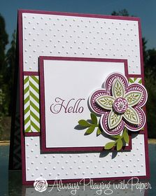 Always Playing with Paper: Cardabilities #55 {Hello} #stampin up