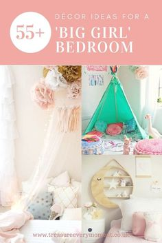 HOME: 55 Decor Ideas for a 'Big Girl' Bedroom | Treasure Every Moment