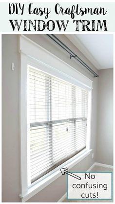 DIY Easy Craftsman Window Trim Tutorial @Remodelaholic