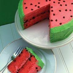 more summer cake cake recipe cake watermelon party idea watermelon ...