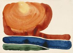 Morning Star No II  watercolor on paper by Georgia O' Keeffe, 1917