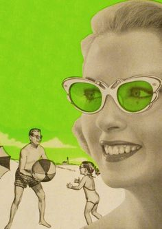Wilson sunglasses ad, 1956 #graphicdesign #vintage #ads