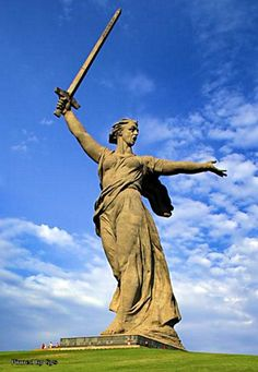 Statue of the Mother Country, is 85 meters high and was erected as commemoration of the Battle of Stalingrad, Russia
