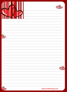 Free Printable Valentines Day Stationary