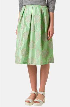 Topshop Metallic Lace Jacquard Midi Skirt on shopstyle.com