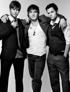 Chace Crawford, Ed Westwick and Penn Badgley. Gossip Girl.
