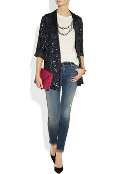 Sequin Jacket dressing up jeans