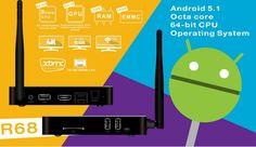Beelink R68 caja de TV Características: 5.1 android, CPU de Octa core Cortex A53 Rockchip RK3368 64bits 2G DDR3, 16GB Nand flash. soporte de wifi, ethernet y bluetooth support masiva instalación de la aplicación/juego, instalar los archivos APK del Flash del USB. support teclado mediante USB y 2.4G ratón inalámbrico y el teclado y ratón. equipado con cable HDMI y control remoto http://www.tinydeal.com/es/compra-barato-beelink-r68-t-2582862.html