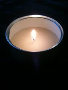 Cat Food Can Candles - inexpensive emergency prep project. Use any size can or jar. Can use old shoestrings for wicks and break big pillar candles from thrift stores into pieces for melting. Add soy wax flakes to add hours to the burn time.