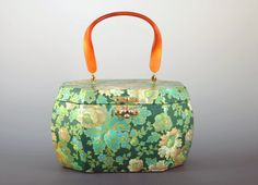 Wood Box Purse Green Floral Handcrafted Decoupage by WilsonAndTeal, $39.99