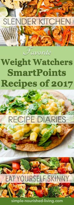 I toured the web to visit all my favorite Weight Watchers friendly sites – Emily Bites, Slender Kitchen, SkinnyTaste, Snack Girl, Recipe-Diaries, Drizzle Me Skinny, Eat Yourself Skinny, Meal Planning Mommies and Daily Dose of Pepper – and am delighted to report that it was another delectable year for Weight Watchers friendly recipes 2017.