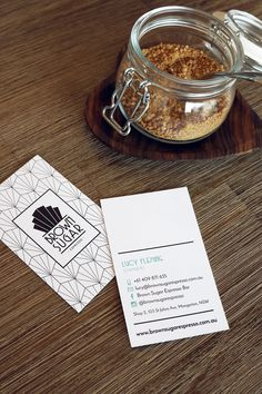 Business Cards for Lucy at Brown Sugar Espresso Bar by Design by Cheyney