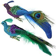 Felices Pascuas Collection 8 inch Regal Peacock Blue purple and Green Sequins Bird Clip-On Christmas Ornament Purple Christmas Ornaments, Peacock Ornaments, Sequin Ornaments, Peacock Christmas, Candy Cane Christmas Tree, Christmas Bird, Christmas Tree Wreath, Christmas Ornament Sets, Christmas Tables