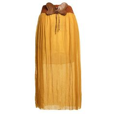 LA SAVVEON - Bowknot Chiffon Elastic Waist Skirt