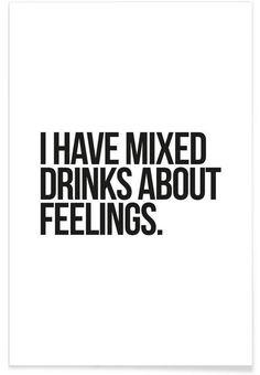 Mixed Drinks als Premium poster door JUNIQE | JUNIQE