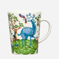 "This ""Fairytale wood"" mug of bone china by the Finnish company Iittala is one of my favourites. I like the Slavic art style"