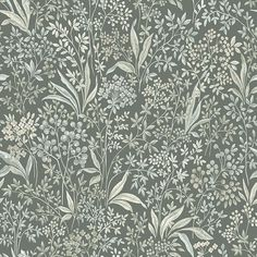 Enjoy the splendour of summer all year round, with this classic yet modern floral wallpaper. Originally designed in the this version of Nocturne wallpaper displays green tones selected by E Swedish Wallpaper, Vintage Style Wallpaper, Modern Floral Wallpaper, Classic Wallpaper, Dark Wallpaper, Vintage Wallpaper Patterns, Kitchen Wallpaper, Home Wallpaper, Wallpaper Display
