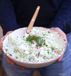 #Recette #Salade de #concombre #ricotta #saumon fumé #aneth