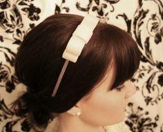 Headband Makeover {How to Make a Bow}