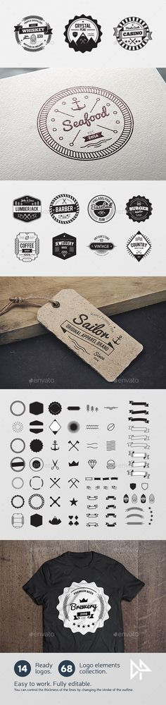 Buy Badges creation kit by polshindanil on GraphicRiver. Great tool for developing your own badge badge. A large number of the resulting variations for your needs at every da. Seal Design, Line Design, Brand Packaging, Packaging Design, Badge Logo, Retro Design, Graphic Design, Logo Food, Beer Label