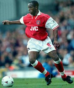 Ian Wright of Arsenal in 1997.