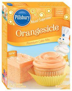 Pillsbury® Moist Supreme® Orangesicle Orange Creme Flavored Premium Cake Mix - Pillsbury Baking Products