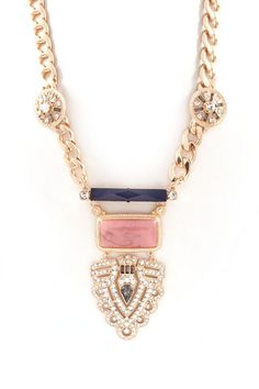Joanna Statement Necklace in Gold//