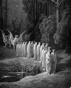 Gustave Dore, illustration from Dante's Divine Comedy (Purgatorio)