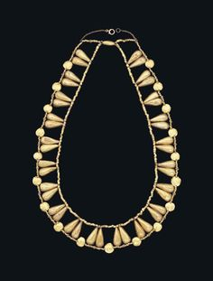 Egyptian Gold Necklace, New Kingdom, 18th Dynasty, 1550-1069 BC