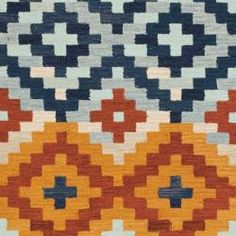A country design and dense, hooked pile highlight this handmade rug. This floor rug has a multi-colored background and displays stunning panel colors of blue, ivory, rust, blue and gold.