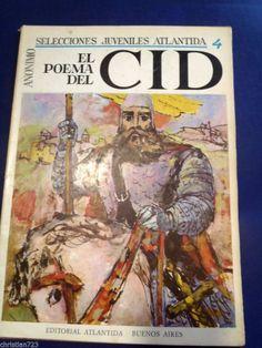 1965 EL POEMA DEL CID Ed ATLANTIDA ARGENTINA ILLUST A. L. MORALES BIG SIZE !