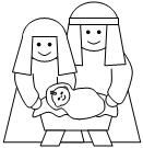 Nativity cut and paste