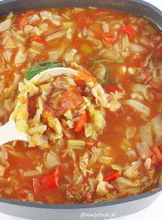Zupa kapuściana, 6 Diet Recipes, Cooking Recipes, Healthy Recipes, Healthy Soup, Coleslaw, Keto Snacks, Soups And Stews, Good Food, Curry
