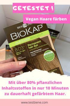 Vor zwei Wochen habe ich in der Naturapotheke BioKap Nutricolor Rapid Haarfarben entdeckt. Der italienische Hersteller verspricht mit über 80% pflanzlichen Inhaltsstoffen ein professionelles Farbergebnis nach nur 10 Minuten Einwirkzeit.   Hält das Produkt, was es verspricht?